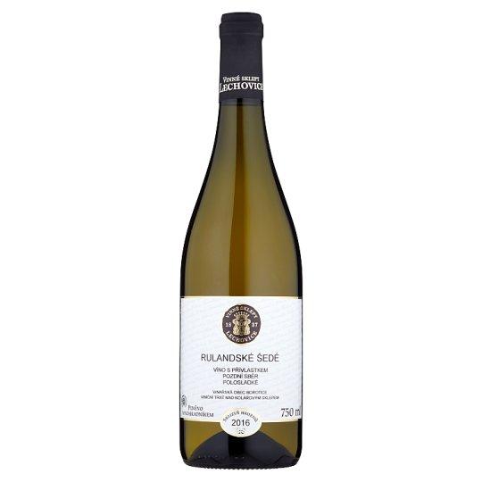 Vinné Sklepy Lechovice Rulandské šedé víno s přívlastkem pozdní sběr polosladké bílé 750ml