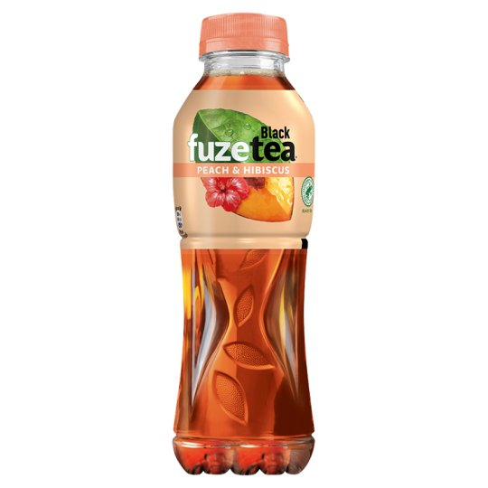 FuzeTea Peach Hibiscus Black Ice Tea 500ml
