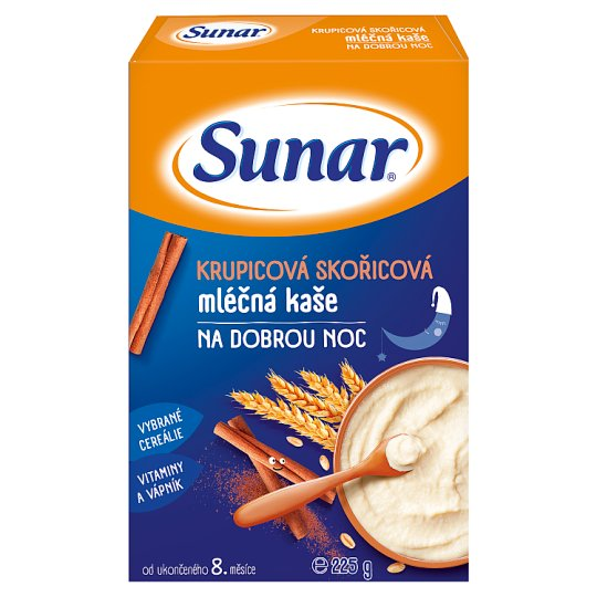 Sunárek Semolina Cinnamon Milk Mash for Good Night 225g