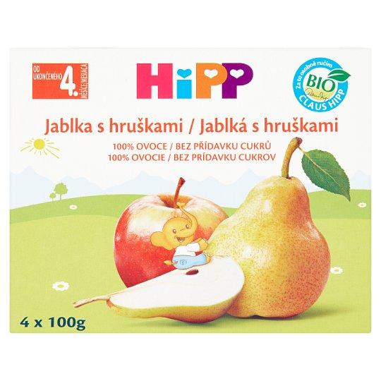 HiPP Organic Fruit Food Apples with Pears 4 x 100g