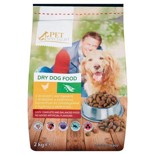 Tesco Pet Specialist Kompletní krmivo pro dospělé psy s drůbežím a zeleninou 2kg