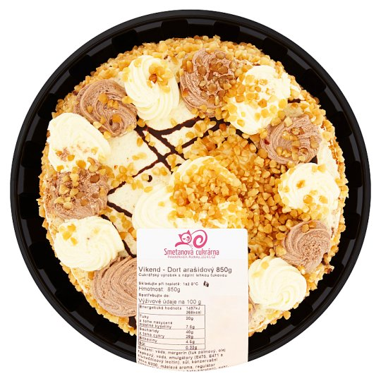 Smetanová cukrárna Weekend Cake Peanut 850g