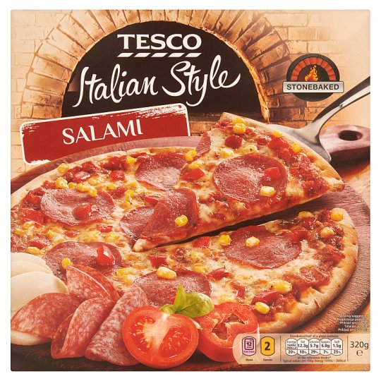Tesco Italian Style Salami pizza 320g