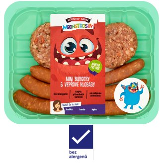 Country Menu Moonstrosity Mini Burgers & Pork Sausages 0.250kg