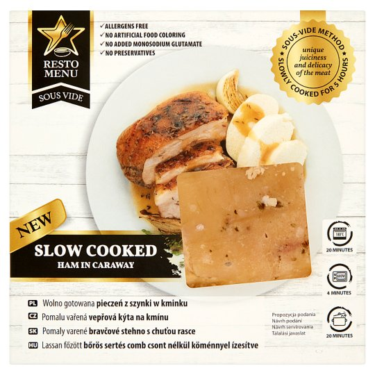 Resto Menu Sous Vide Slow Cooked Ham in Caraway 0.800kg