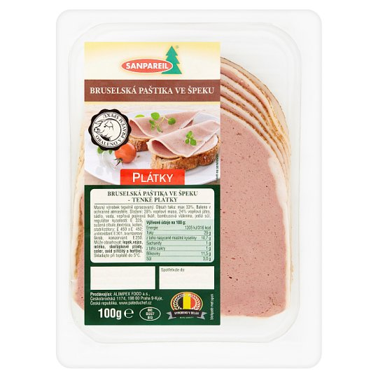 Sanpareil Brussels Pate in Bacon - Thinly Sliced 100g