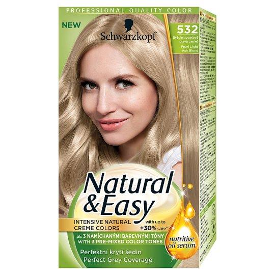 Schwarzkopf Natural & Easy barva na vlasy Světle Popelavě Plavá Perleť 532
