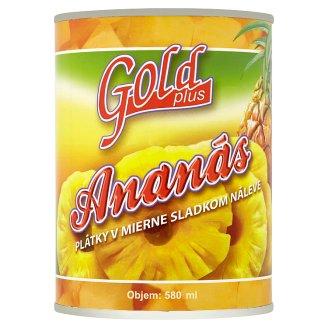 Gold Plus Ananas plátky v sladkém nálevu 565g