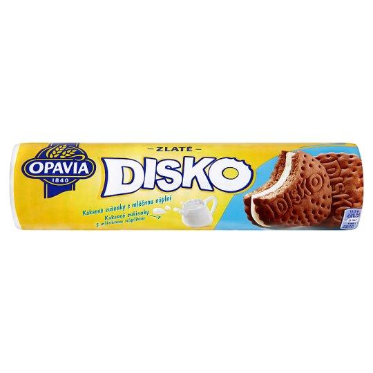 Opavia Zlaté Disko kakaové sušenky s mléčnou náplní 157g