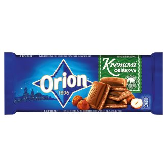 ORION Milk Chocolate with Hazelnut Cream Filling 100g