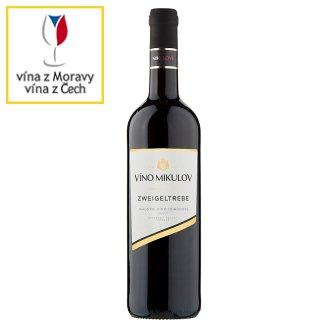 Víno Mikulov Zweigeltrebe jakostní víno odrůdové suché červené 0,75l