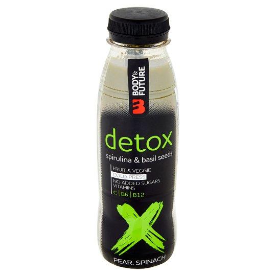 Body&Future Detox hruška, špenát, bazalková semínka 330ml