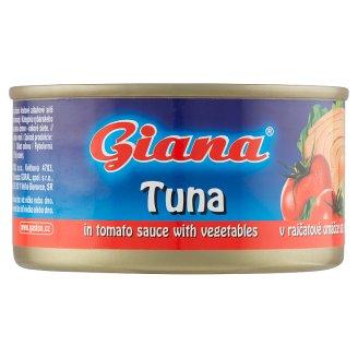 Giana Tuňák v rajčatové omáčce se zeleninou 185g