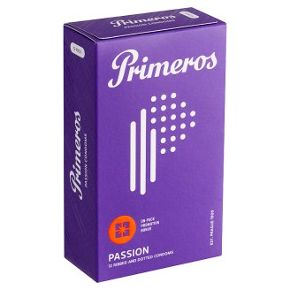 Primeros Passion Condoms with Stimulating Creases, Protrusions and Coconut Aroma, 12 pcs