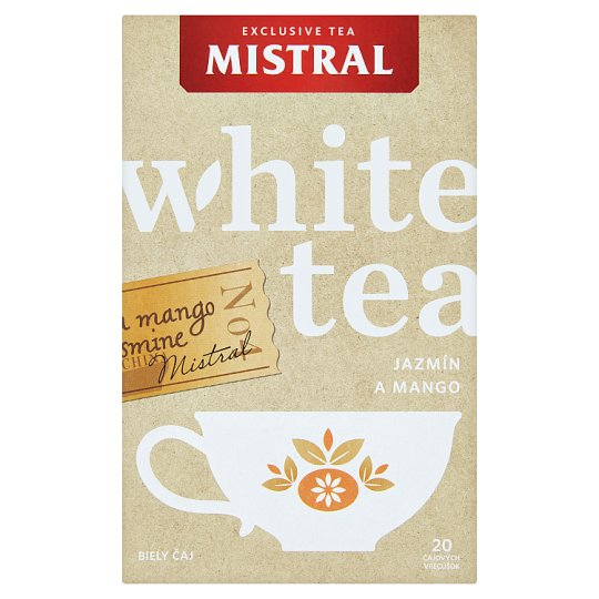 Mistral Mixture of White Tea and Jasmine Tea, Flavored with Mango 20 x 1g