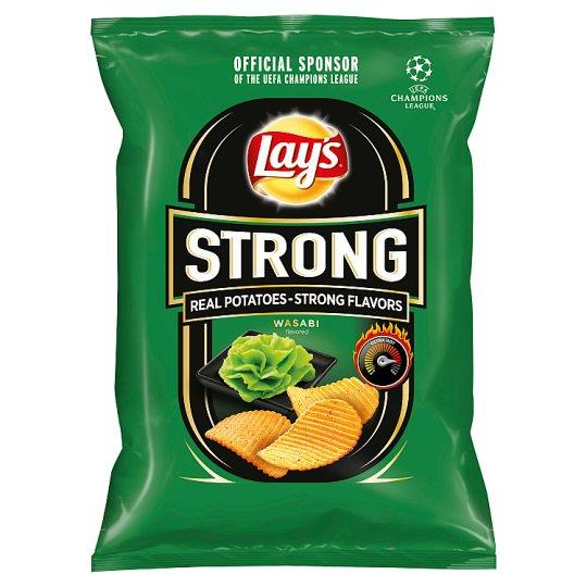 Lay's Strong Smažené bramborové lupínky s příchutí wasabi 65g