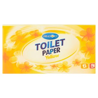 Springforce Toilet Paper Yellow 8 Rolls