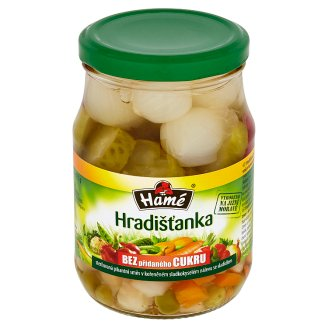 Hamé Hradišťanka Spicy Pickled in a Spicy Mixture of Sweet and Sour Pickle 330g