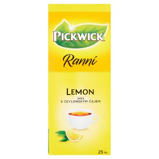 Pickwick Ranní S citronem směs s ceylonským čajem 25 x 1,75g