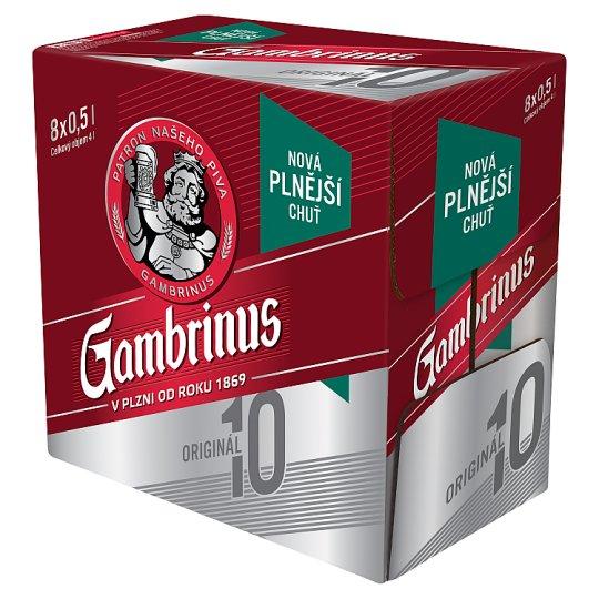 Gambrinus Originál 10 pivo výčepní světlé 8 x 0,5l