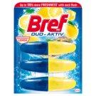 Bref Duo-Aktiv Mediterranean Lemon tekutý WC blok náhradní náplň 3 x 50ml