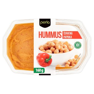 Perla Hummus červená paprika 160g