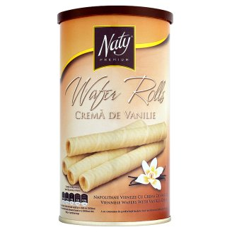 Naty Premium Wafer Rolls Viennese Wafers with Vanilla Cream 150g