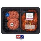 Tesco Grill Marinovaná vepřová krkovice Porto / Hovězí burger s papričkou Jalapeño 0,600kg