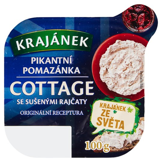 Krajánek Spicy Cottage with Dried Tomatoes Spread 100g