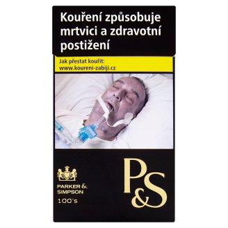 Parker & Simpson 100´s Black cigarety s filtrem 20 ks