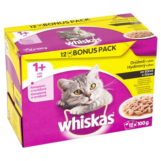 Whiskas Poultry Selection in Jelly Complete Cat Food 12 x 100g