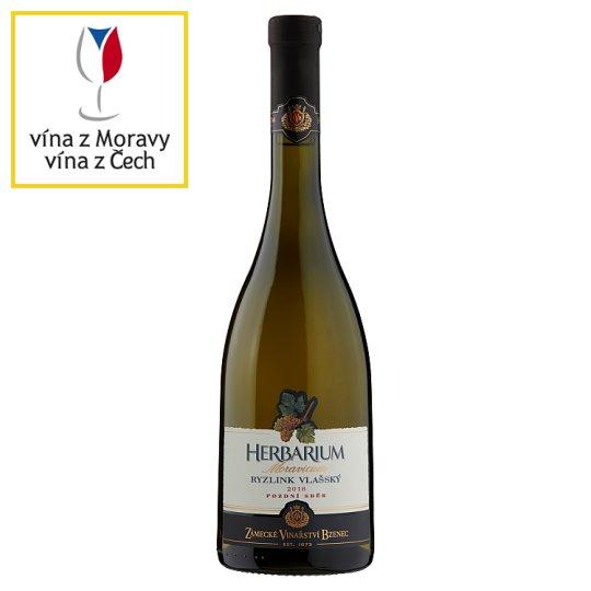 Zámecké Vinařství Bzenec Herbarium Moravicum Ryzlink vlašský pozdní sběr suché bílé víno 0,75l