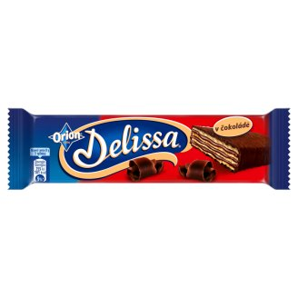 ORION Delissa Wafer with Cocoa Filling Dipped in Bitter Chocolate 33g