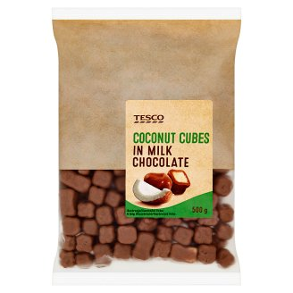 Tesco Coconut Cubes in Milk Chocolate 500g