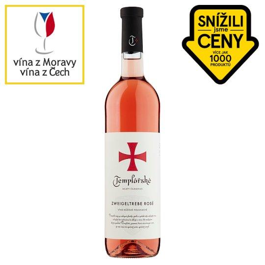 Templářské Sklepy Čejkovice Zweigeltrebe Rosé Quality Semi-Dry Wine 0.75L