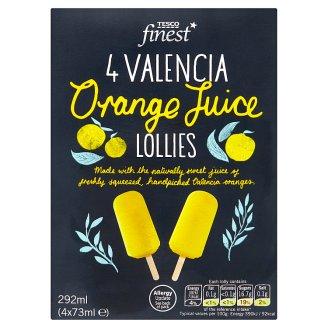 Tesco Finest Mražený krém ovocný pomerančový s cukrem 4 x 73ml