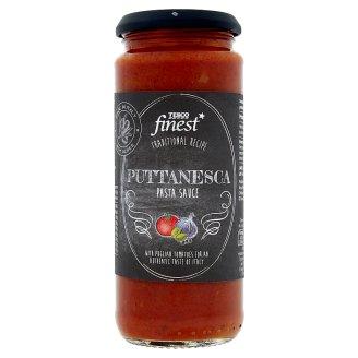 Tesco Finest Rajčatová omáčka na těstoviny s černými olivami a kaparami 340g
