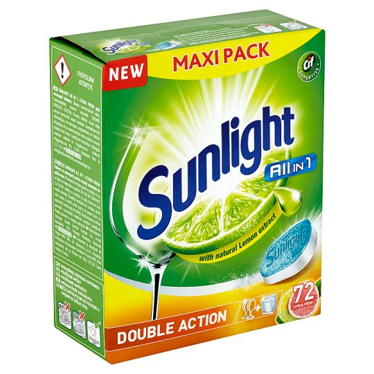 Sunlight All in 1 Citrus Tablety do myčky nádobí 72 ks 1260g