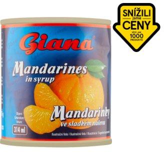 Giana Mandarinky ve sladkém nálevu 312g