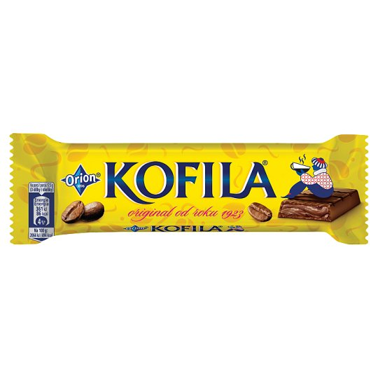 ORION KOFILA Original Chocolate Bar with Coffee Filling 35g