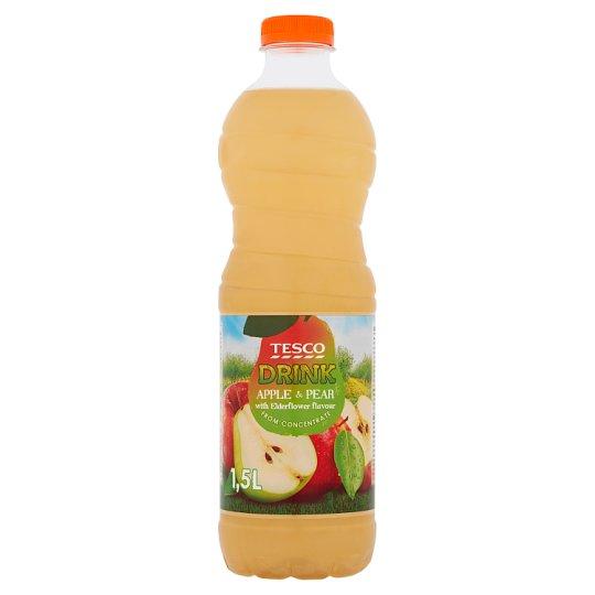 Tesco Nesycený nealkoholický nápoj jablečno-hruškový s příchutí květu černého bezu 1,5l