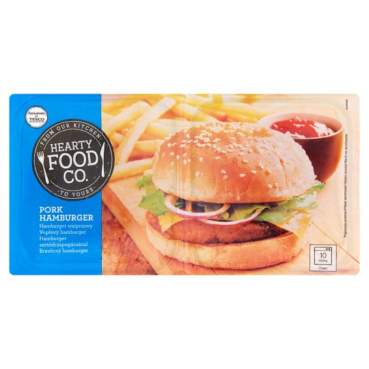 Hearty Food Co. Vepřový hamburger 2 x 200g