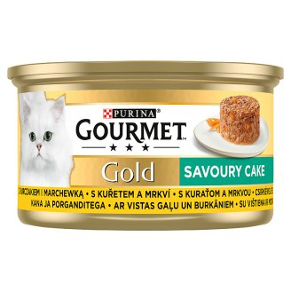 GOURMET Gold Savory Cake with Chicken and Carrots 85g