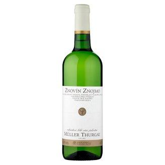 Znovín Znojmo Müller Thurgau 2015 odrůdové bílé víno jakostní suché 0,75l