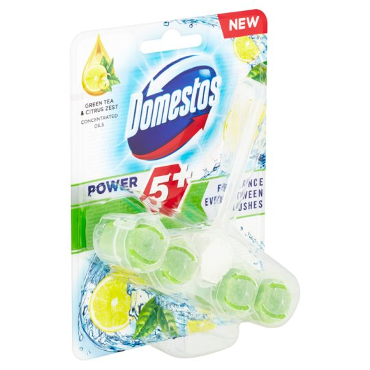 Domestos Power 5 Green Tea & Citrus WC blok 55g