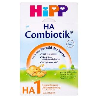 HiPP Combiotik HA1 hypoalergenní počáteční mléčná kojenecká výživa od narození 500g