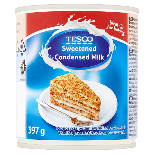 Tesco Zahuštěné slazené plnotučné mléko 397g
