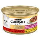GOURMET Gold Double Pleasure with Beef and Chicken 85g