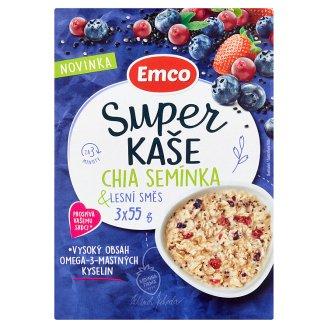Emco Super kaše chia semínka & lesní směs 3 x 55g