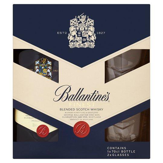 Ballantine's Finest Blended Scotch Whisky 70cl + 2 skleničky